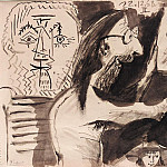 1968 Le peintre dans son atelier, Pablo Picasso (1881-1973) Period of creation: 1962-1973