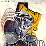 1969 Homme au fauteuil 1, Pablo Picasso (1881-1973) Period of creation: 1962-1973