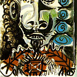 1969 TИte dhomme 5, Pablo Picasso (1881-1973) Period of creation: 1962-1973