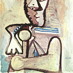 1971 Buste dhomme 4, Pablo Picasso (1881-1973) Period of creation: 1962-1973