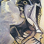 Pablo Picasso (1881-1973) Period of creation: 1962-1973 - 1971 femme assise 1