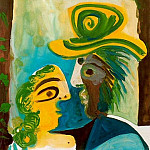 Pablo Picasso (1881-1973) Period of creation: 1962-1973 - 1970 Homme et femme [Couple]