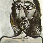 1971 TИte dhomme , Pablo Picasso (1881-1973) Period of creation: 1962-1973