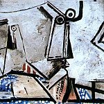 Pablo Picasso (1881-1973) Period of creation: 1962-1973 - 1972 Nu couchВ et tИte I