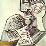 Pablo Picasso (1881-1973) Period of creation: 1962-1973 - 1971 Personnage au livre
