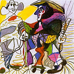1969 Pierrot et arlequin, Pablo Picasso (1881-1973) Period of creation: 1962-1973