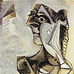 Pablo Picasso (1881-1973) Period of creation: 1962-1973 - 1971 Femme assise (Jacqueline)