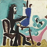 Pablo Picasso (1881-1973) Period of creation: 1962-1973 - 1963 Le peintre et son modКle III