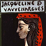 1972 Jacqueline de Vauvenargues, Pablo Picasso (1881-1973) Period of creation: 1962-1973