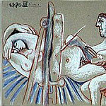 Pablo Picasso (1881-1973) Period of creation: 1962-1973 - 1970 Le peintre et son modКle 1