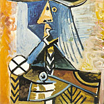 1971 Personnage 1, Pablo Picasso (1881-1973) Period of creation: 1962-1973
