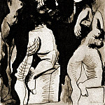 1970 Trois nus debout, Pablo Picasso (1881-1973) Period of creation: 1962-1973