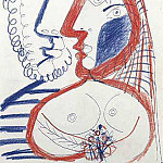 1970 Homme et femme au bouquet, Pablo Picasso (1881-1973) Period of creation: 1962-1973