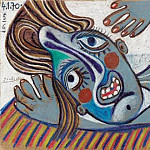 1970 Buste de femme 2, Pablo Picasso (1881-1973) Period of creation: 1962-1973