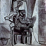 1962 Coq sur une chaise sous la lampe, Pablo Picasso (1881-1973) Period of creation: 1962-1973