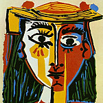 1962 Femme au chapeau, Pablo Picasso (1881-1973) Period of creation: 1962-1973