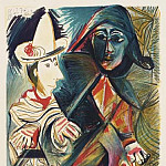 Pablo Picasso (1881-1973) Period of creation: 1962-1973 - 1970 Pierrot et arlequin