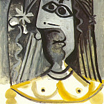 Pablo Picasso (1881-1973) Period of creation: 1962-1973 - 1971 Buste de femme 5