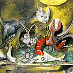 Pablo Picasso (1881-1973) Period of creation: 1962-1973 - 1962 Nature morte, chat et homard