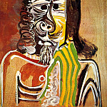 1969 Homme barbu, Pablo Picasso (1881-1973) Period of creation: 1962-1973