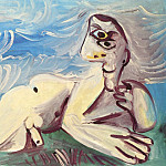1971 Homme nu couchВ, Pablo Picasso (1881-1973) Period of creation: 1962-1973