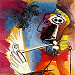 1969 Le fumeur, Pablo Picasso (1881-1973) Period of creation: 1962-1973