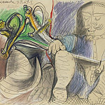 1969 Homme au casque et Е lВpВe, Pablo Picasso (1881-1973) Period of creation: 1962-1973