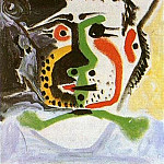 Pablo Picasso (1881-1973) Period of creation: 1962-1973 - 1964 TИte dhomme au chapeau