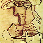 Pablo Picasso (1881-1973) Period of creation: 1962-1973 - 1971 Buste au chapeau