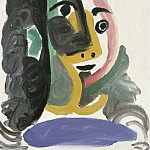 Pablo Picasso (1881-1973) Period of creation: 1962-1973 - 1964 TИte de femme