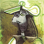 Pablo Picasso (1881-1973) Period of creation: 1962-1973 - 1971 Femme au chapeau 2