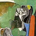 1962 Jacqueline assise avec Kaboul, Pablo Picasso (1881-1973) Period of creation: 1962-1973