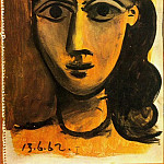 1962 TИte de femme 2, Pablo Picasso (1881-1973) Period of creation: 1962-1973