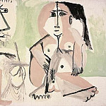 Pablo Picasso (1881-1973) Period of creation: 1962-1973 - 1964 Le peintre et som modКle 6