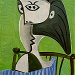 Pablo Picasso (1881-1973) Period of creation: 1962-1973 - 1962 Buste de femme assise