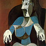 1962 Femme assise au fauteuil noir, Pablo Picasso (1881-1973) Period of creation: 1962-1973