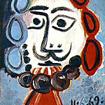 1969 Buste dhomme 1, Pablo Picasso (1881-1973) Period of creation: 1962-1973