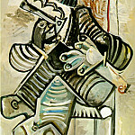 1968 Homme Е la pipe 3, Pablo Picasso (1881-1973) Period of creation: 1962-1973