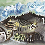 Pablo Picasso (1881-1973) Period of creation: 1962-1973 - 1967 Paysage vu de latelier de lartiste