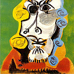 1969 TИte dhomme 2, Pablo Picasso (1881-1973) Period of creation: 1962-1973