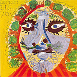 1970 TИte dhomme de face, Pablo Picasso (1881-1973) Period of creation: 1962-1973
