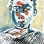 Pablo Picasso (1881-1973) Period of creation: 1962-1973 - 1965 Buste dhomme