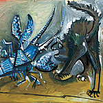 1965 Le homard et le chat, Pablo Picasso (1881-1973) Period of creation: 1962-1973