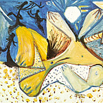 Pablo Picasso (1881-1973) Period of creation: 1962-1973 - 1971 Nu couchВ