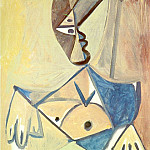 Pablo Picasso (1881-1973) Period of creation: 1962-1973 - 1971 Buste de femme 2