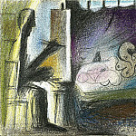 Pablo Picasso (1881-1973) Period of creation: 1962-1973 - 1963 Latelier- le peintre et son modКle I