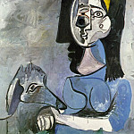 1962 Jacqueline assise avec Kaboul II, Pablo Picasso (1881-1973) Period of creation: 1962-1973