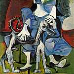 1962 Femme au chien , Pablo Picasso (1881-1973) Period of creation: 1962-1973