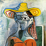 Pablo Picasso (1881-1973) Period of creation: 1962-1973 - 1962 Buste de femme au chapeau