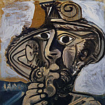 1971 Homme Е la pipe , Pablo Picasso (1881-1973) Period of creation: 1962-1973